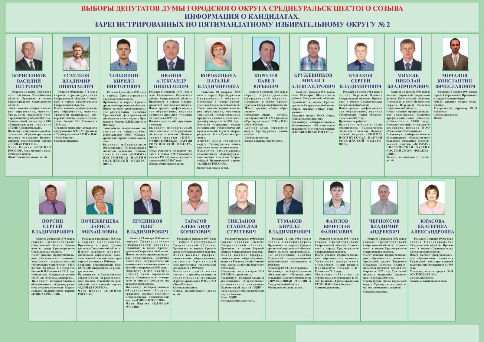 образец плаката кандидата депутата